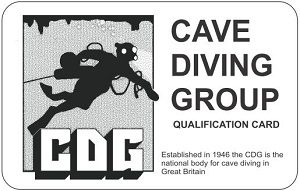 Cave Diving Group of Great Britain & Northern Ireland, Qualification Card