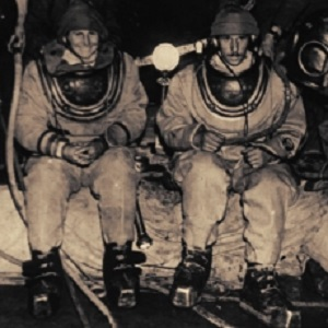 "Penelope ""Mossy"" Powell & Graham Balcombe at Wookey Hole in 1935"